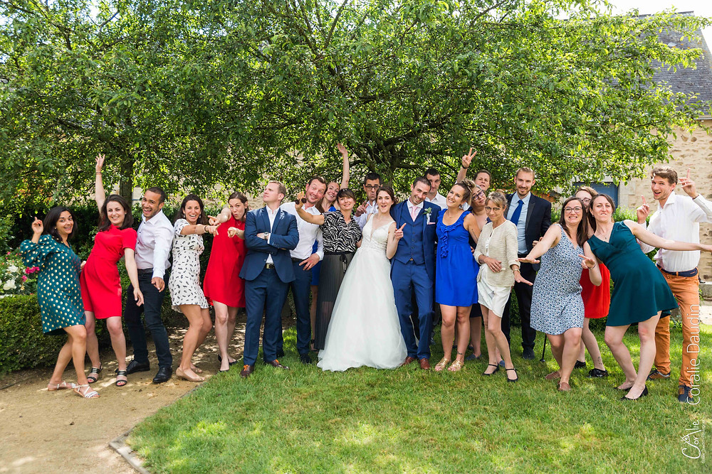 photographe de groupe mariage