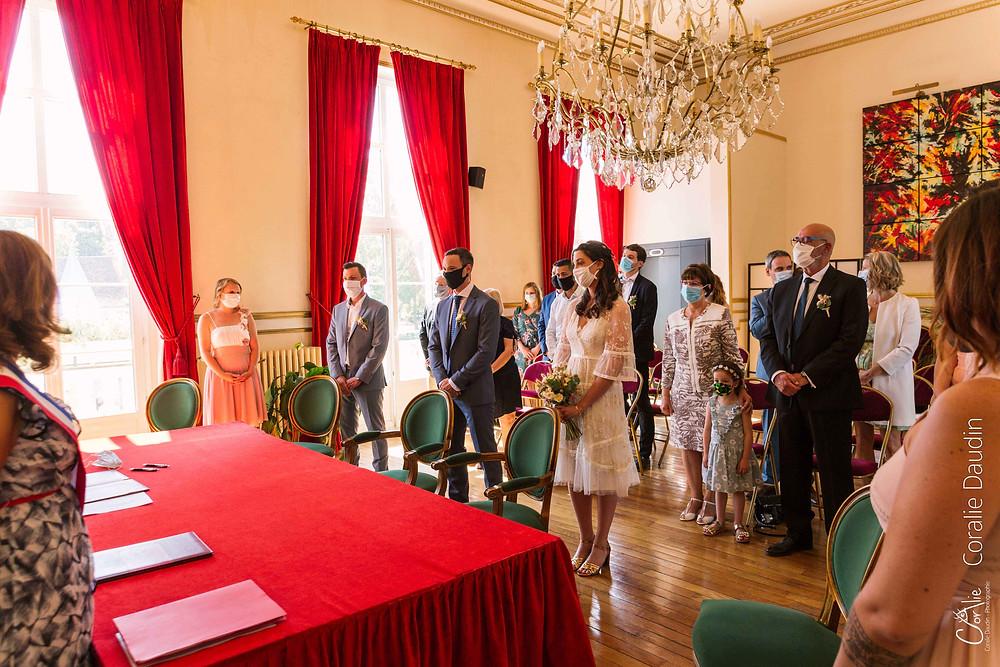 reportage photo mariage cérémonie mairie Sault-les-Chartreux