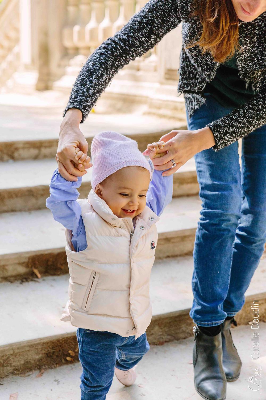 Shooting premiers pas de bébé