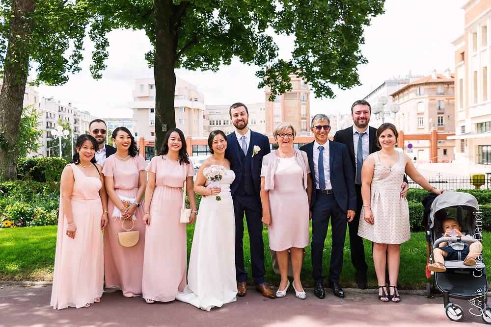 photo groupe mariage mairie de Montrouge