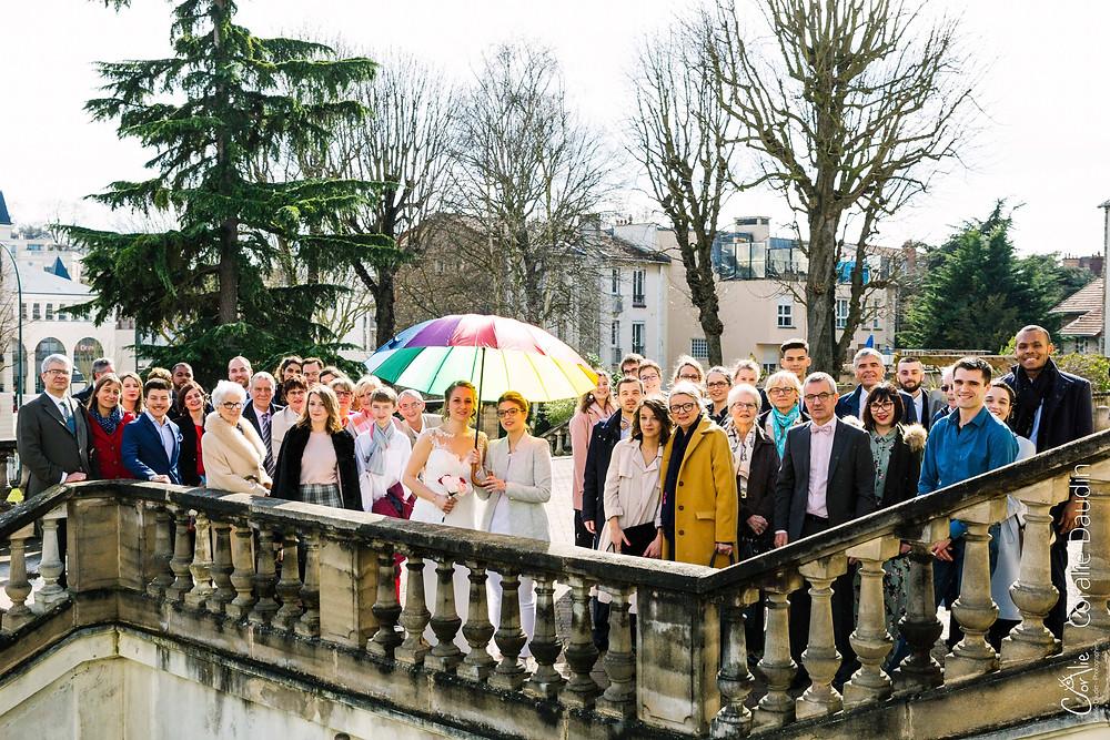 Photographie de groupe mariage Chaville