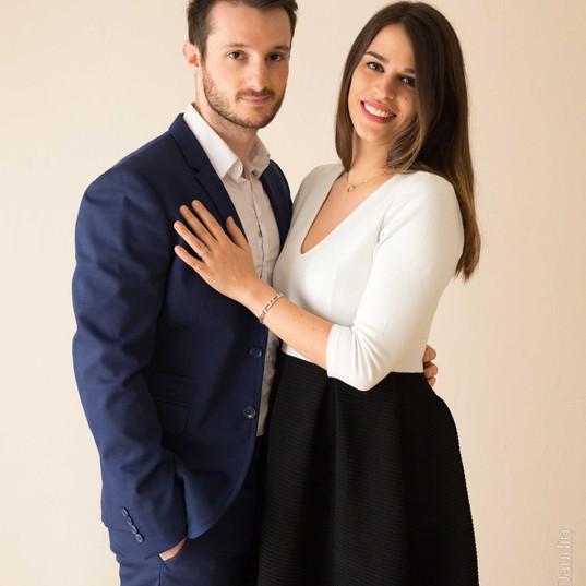 Séance photo couple en studio - Photographe Massy, Essonne