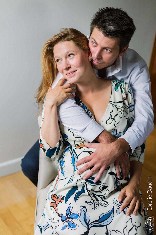 shooting photo grossesse en couple dans les Yvelines