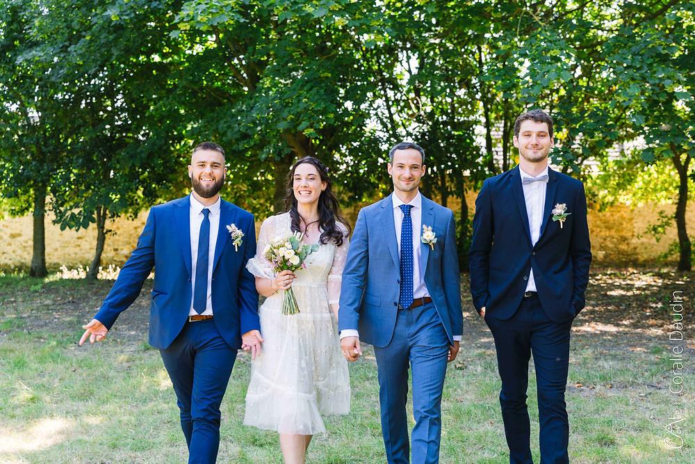 photographie de groupe mariage Essonne