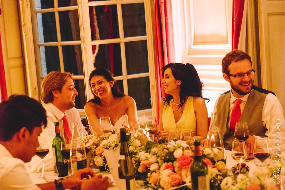Dîner de mariage, photo table des mariés