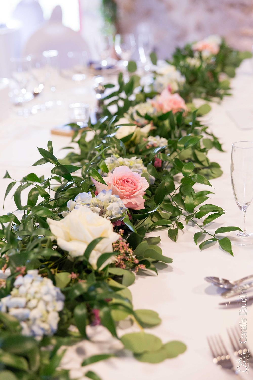 photo chemin de table fleurs Atelier Mimoza