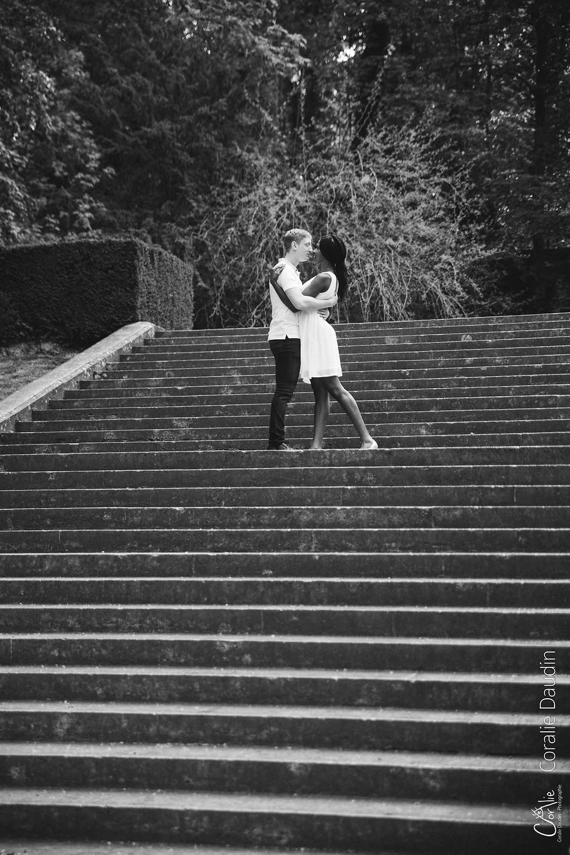 shooting photo couple au parc de Sceaux (92)