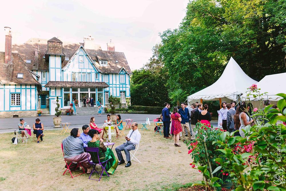 photos de groupe mariage Ile de France Manoir des Roches Fontainebleau
