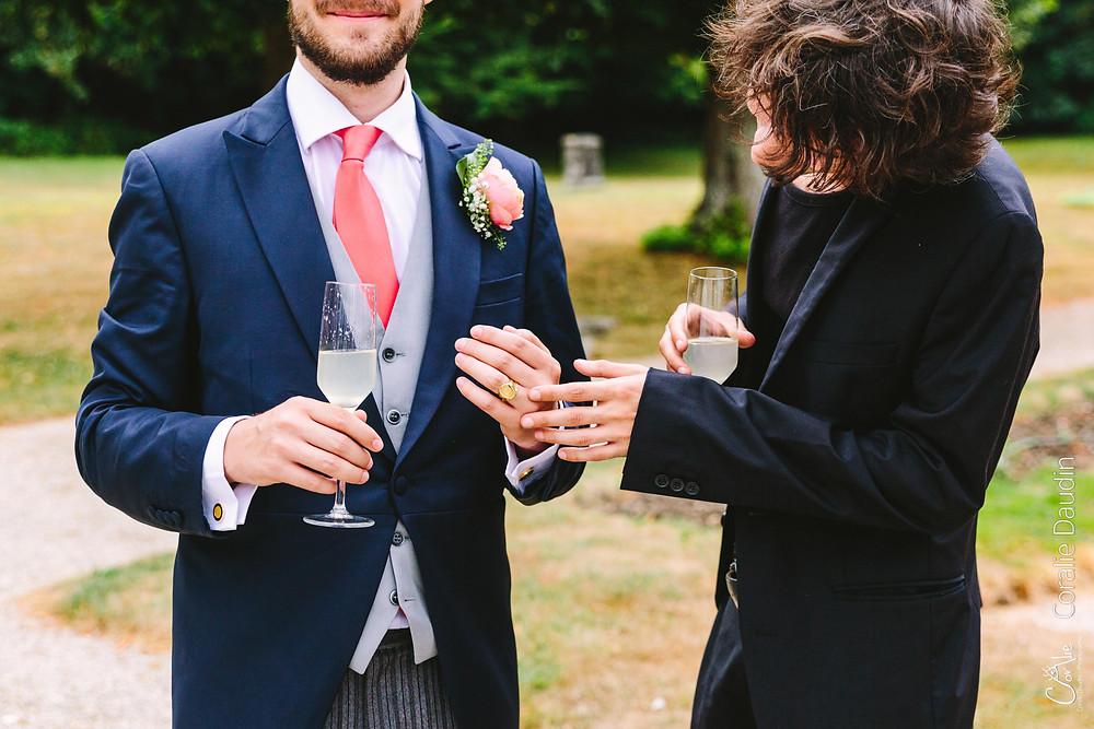 détail alliance marié