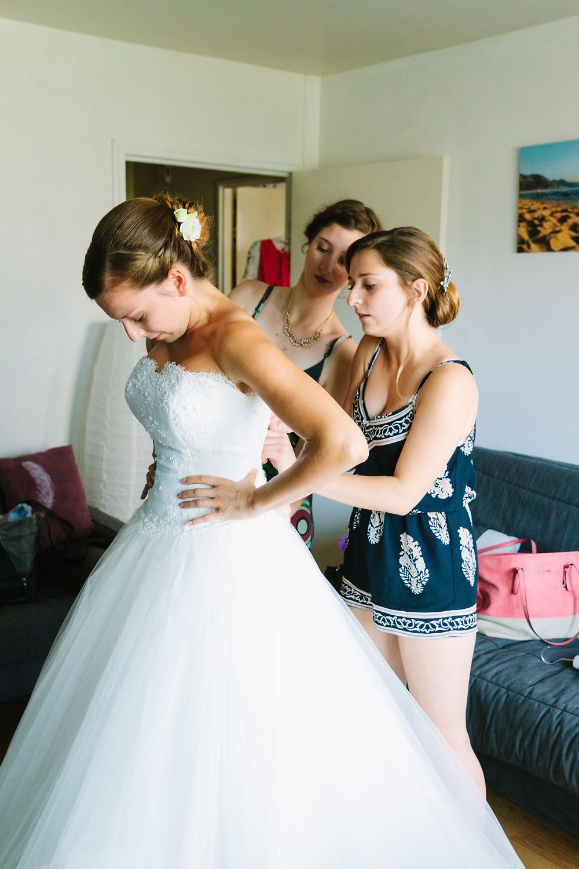 Préparatifs mariée reportage photo mariage