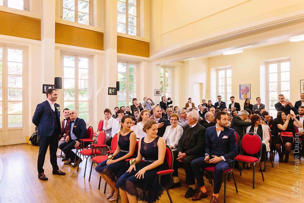 Reportage cérémonie mariage mairie Epinay sur Orge