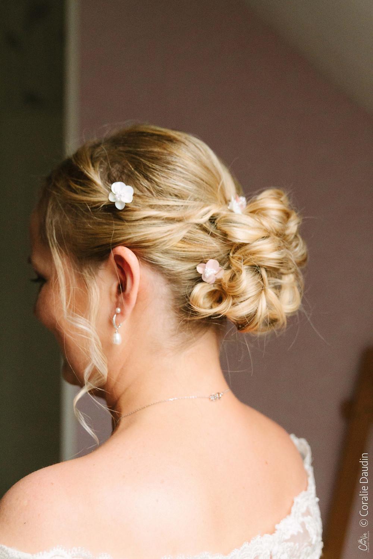 Photographie préparatifs de la mariée