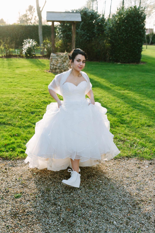 Photo look de la mariée - Coralie Daudin-Photographe mariage Essonne- reportage mariage