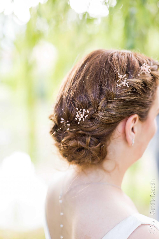 photo de la coiffure de la mariée