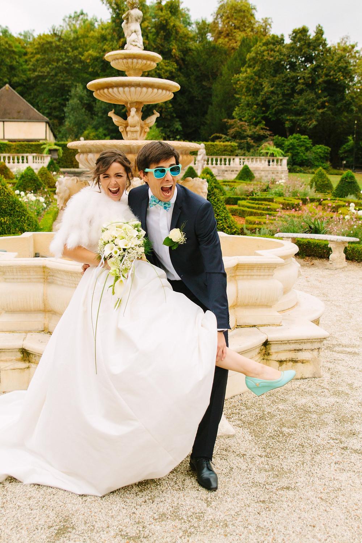 Photo couple mariés drôle et originale
