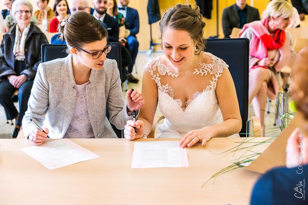 Signature mariées mairie de Chaville