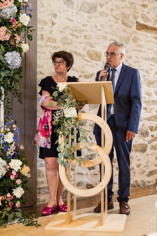 photo discours des parents de la mariée