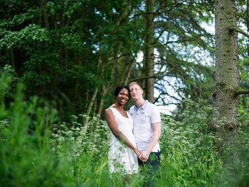 Photographe couple - Séance engagement au parc de Sceaux (92)