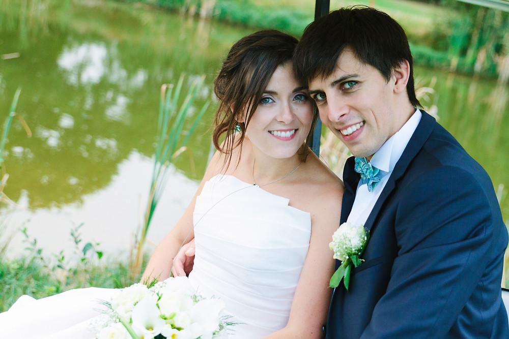 Photo couple mariage Golf d'Ableiges