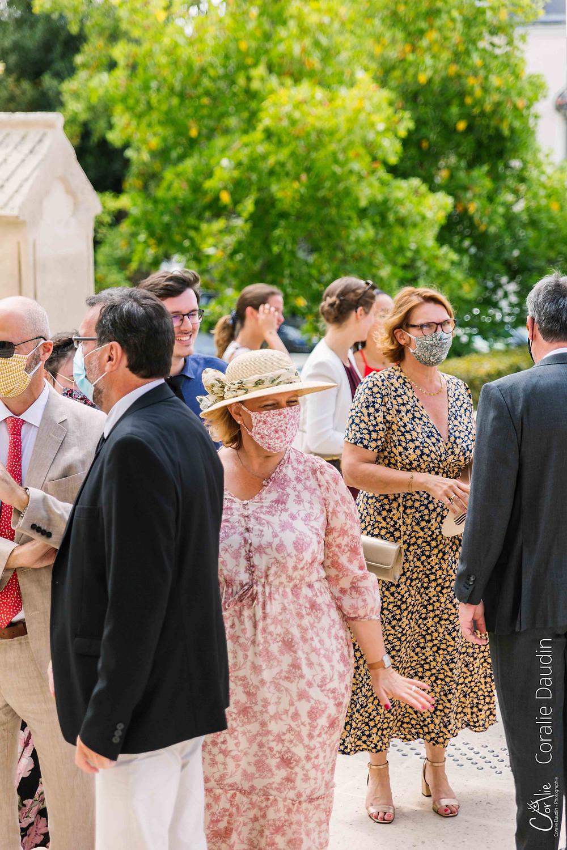 Masque fleuri mariage église Verrières-le-buisson