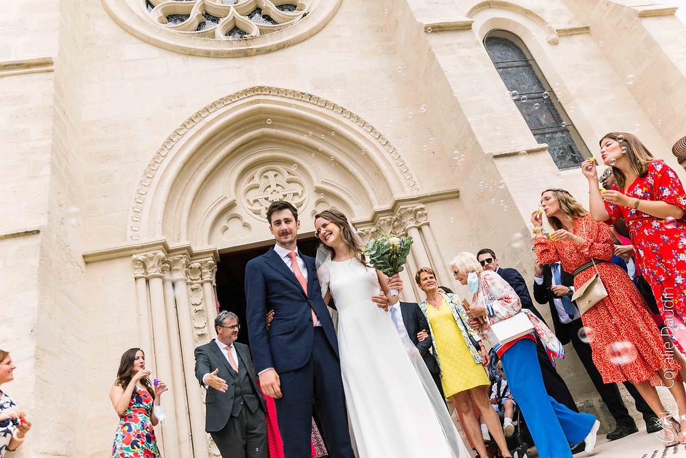 Sortie d'église mariage Verrières-le-Buissson, Hauts-de-Seine