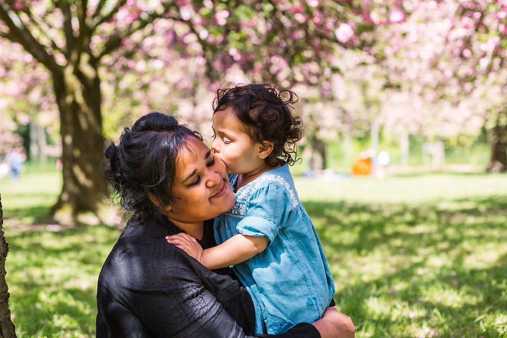 Séance photo mère fille Parc de Sceaux