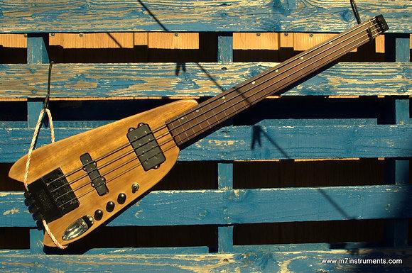 Fretless removable bass travel