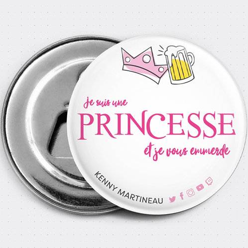 """Magnet """"Je suis une princesse..."""""""