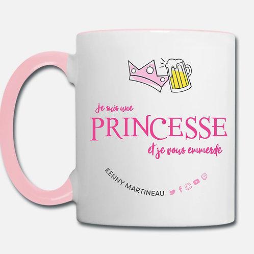 """Mug """"Je suis une princesse et je vous emmerde"""""""