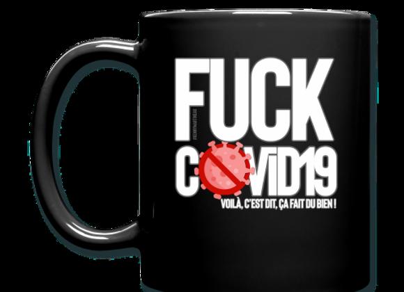 """Mug NOIR """" Fuck COVID19"""""""