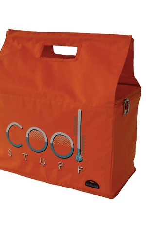 Kerribag Insulated Reusable Shopping Bag- Cool Stuff, Orange
