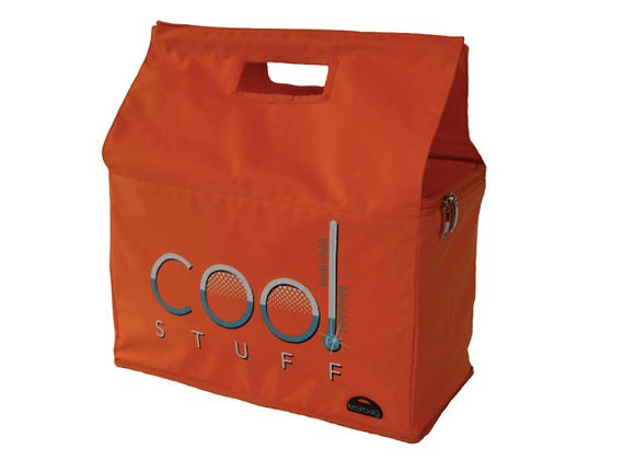 Kerribag Insulated Reusable Shopping Bag- Cool Stuff, Orange