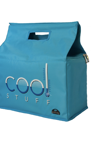 Kerribag Insulated Reusable Shopping Bag - Cool Stuff, Blue