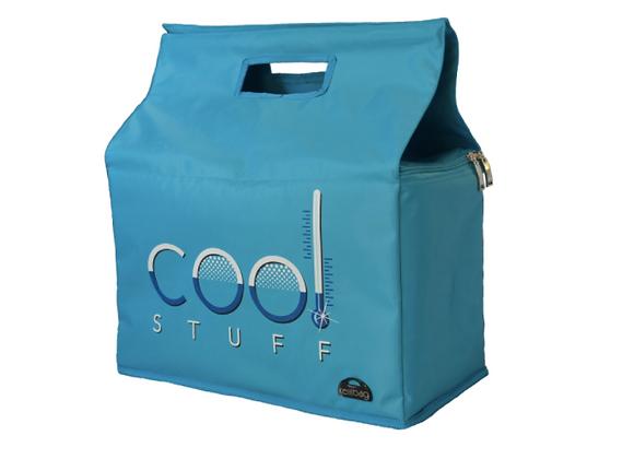 Kerribag Insulated Reusable Shopping Bag - Cool Stuff, Blue