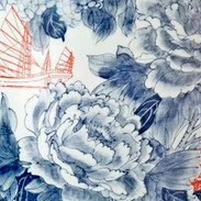 Sing Ying Ho - World Garden no.2 detail 48x18 inches