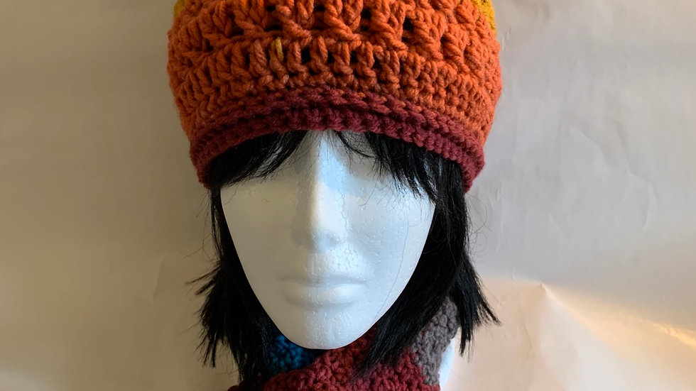 Key Hole Scarf With Hat