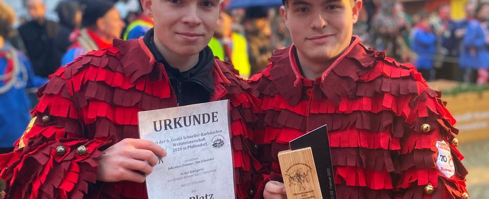 Weltmeister (Kategorie 2er männlich bis 18 Jahre)