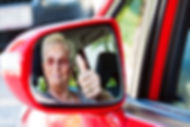 older woman wearing a seatbelt when in a