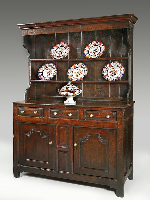 18th Century Welsh Dresser & Rack