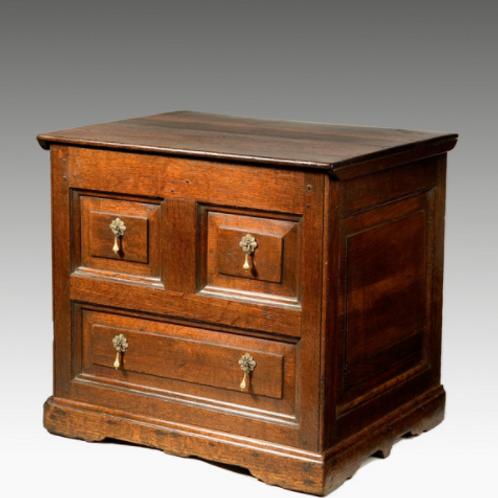Early 18th Century Oak Box Commode