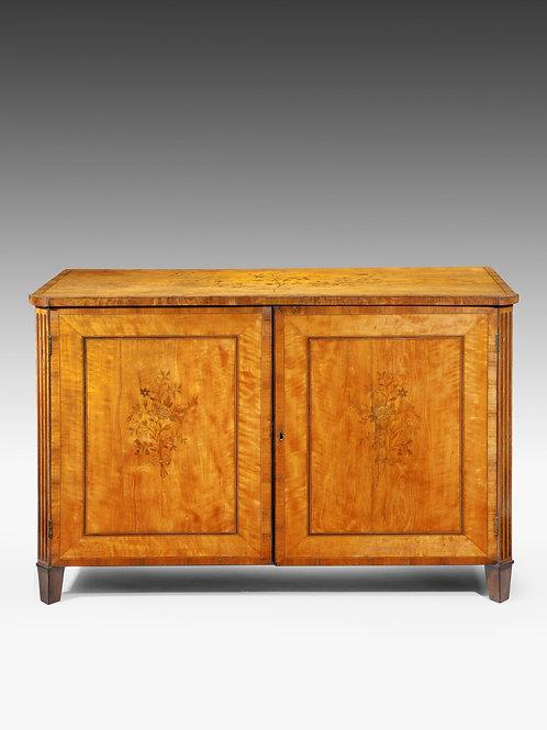 A Sheraton Satinwood Cabinet
