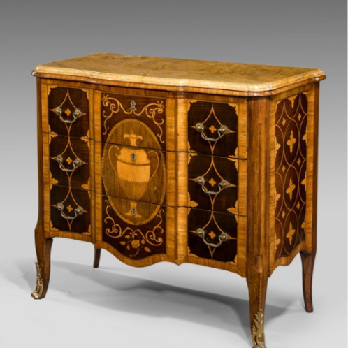 George III Adam Marquetry Veneered Commode