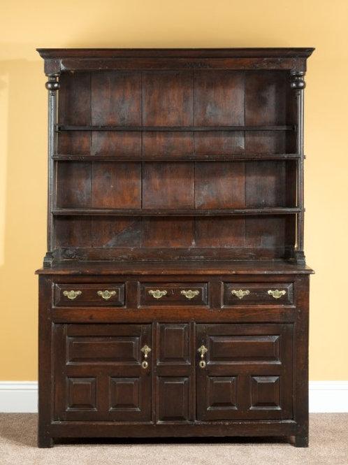 Early 18th Century Oak Canopy Top Dresser