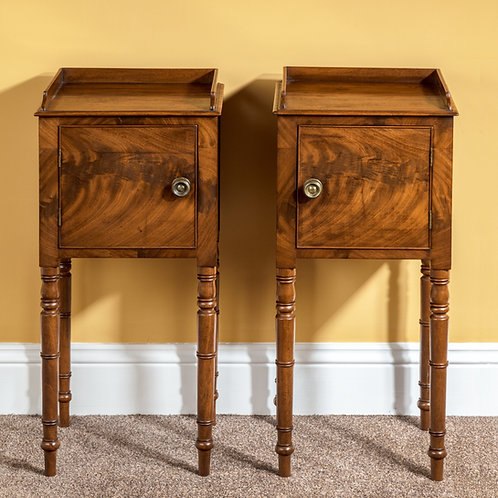 Pair of Georgian Period Mahogany Beside Tables