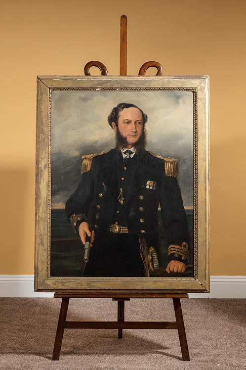 Captain Panter-Downes Portrait in full Naval Regalia