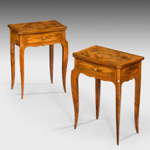 French Pair Design Side Tables