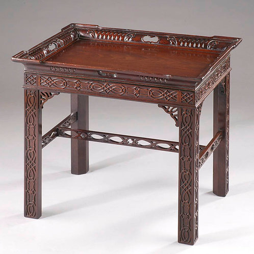 Chippendale Period Fretted Tray Table