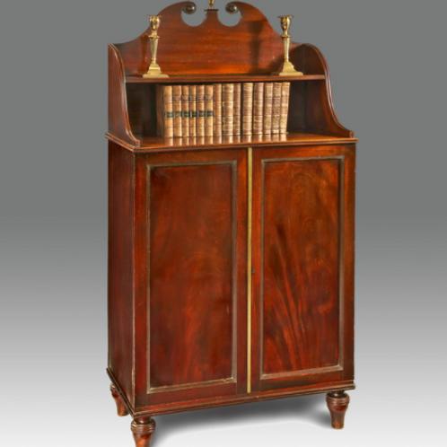 Georgian Period Mahogany 2 Door Cabinet