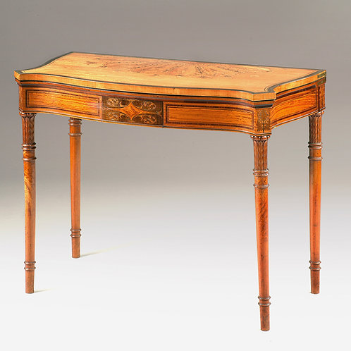 Sheraton Revival Satinwood Card Table