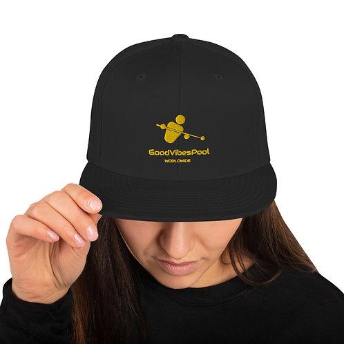 GoodVibesPool Gold Snap Back Ball Cap